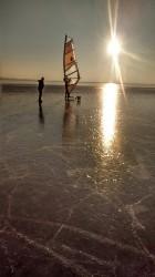 Dzień na przystani windsurfingowej....